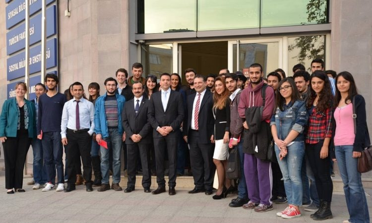 Consul John Espinoza with Adana Science and Technology University Students