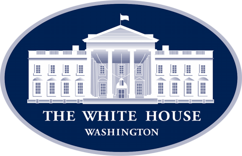 Logo of the United States White House, especially in conjunction with offices like the Chief of Staff and Press Secretary.
