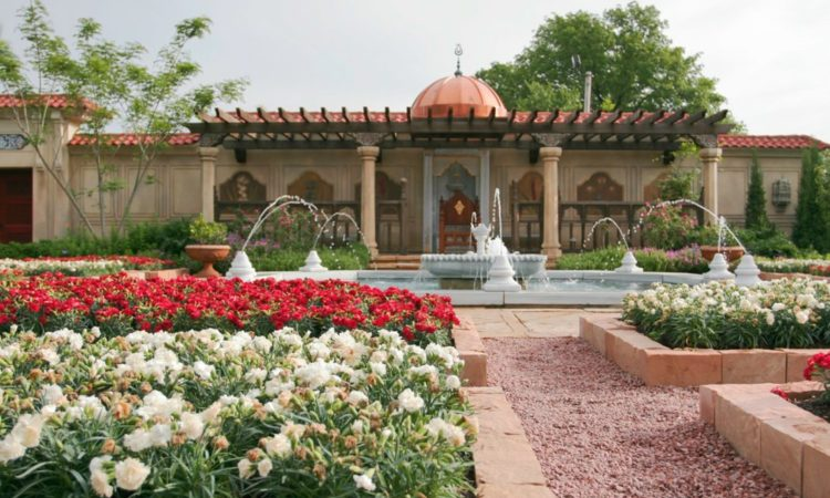 The plantings and layout of the garden recreate what a walled garden would have looked like during the Ottoman Empire. (Courtesy of Missouri Botanical Garden)