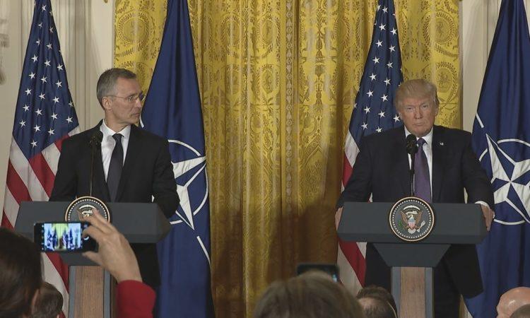 President Trump Welcomes NATO Secretary General Stoltenberg
