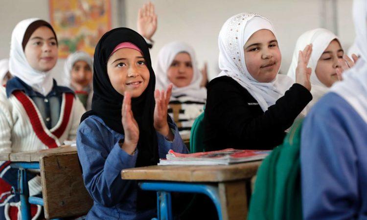 28 Mart Ürdün'teki Zaatari mülteci kampında Suriyeli kızlar. FOTO: AGENCE FRANSA-PRESSE / GETTY IMAGES