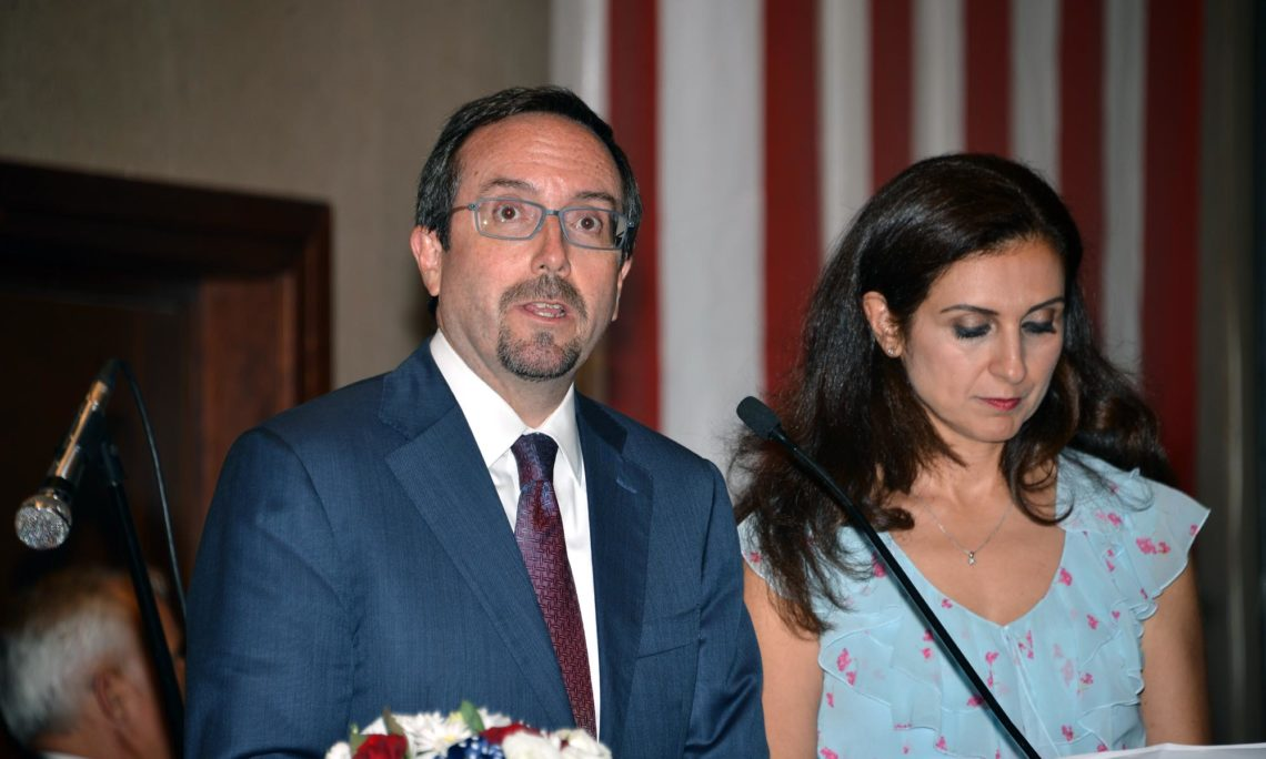 ABD Bykelisi John Bass Adana Konsolosluu Bamszlk Gn Kutlamasnda Yapt Konuma Hilton Oteli Trkiye July 13 2017