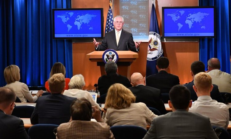 Rex W. Tillerson, Secretary of State Press Briefing Room – Washington, DC, August 1, 2017