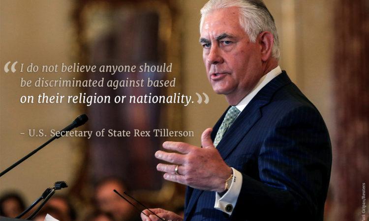 Secretary Tillerson(© Yuri Gripas/Reuters)