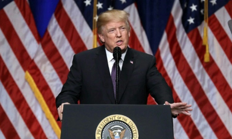 Date: 12/18/2017 Description: President Trump delivers remarks on the 2018 National Security Strategy, Washington, DC. © AP Image Release of National Security Strategy