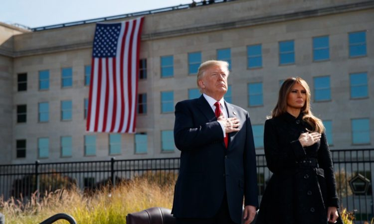 At the Pentagon, President Trump and first lady Melania Trump mark the anniversary of the September 11, 2001, terrorist attacks. (© AP Images)