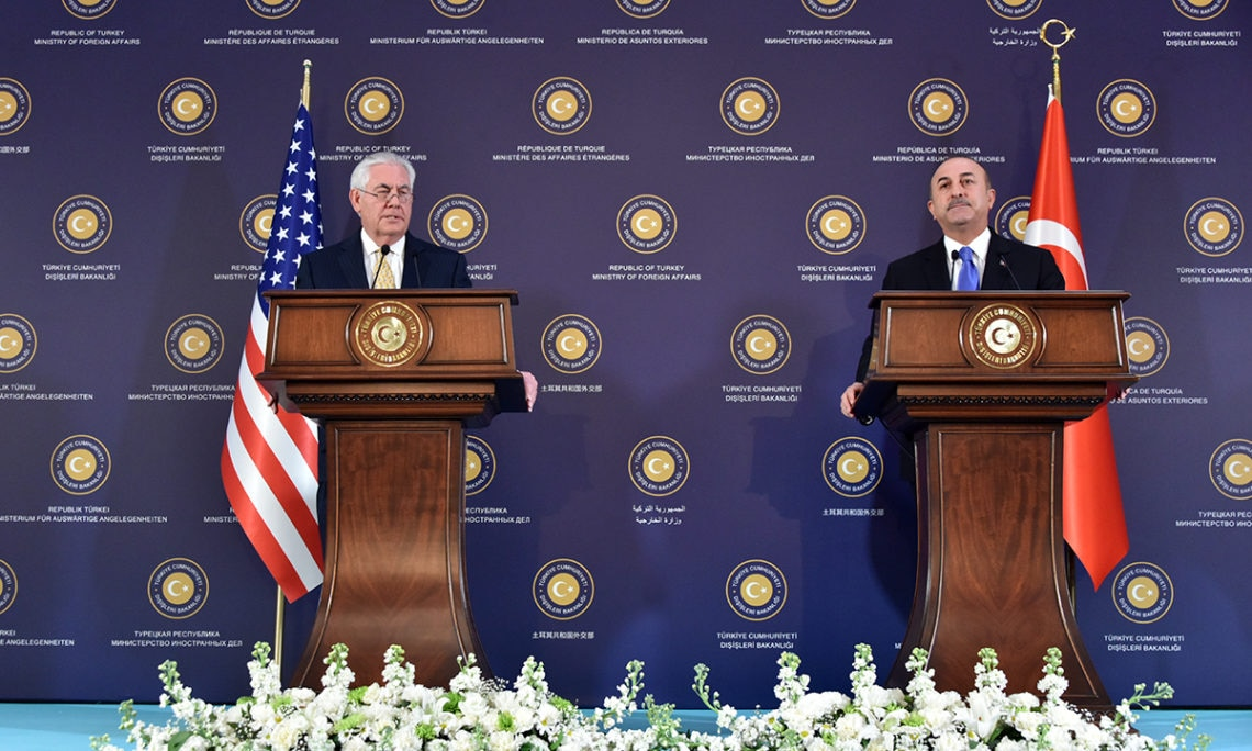 Secretary Tillerson met with his counterpart Turkish Foreign Minister Cavusoglu at the Ankara Palas. In a joint press event, Secretary Tillerson reiterated the enduring strength of the U.S.-Turkey relationship