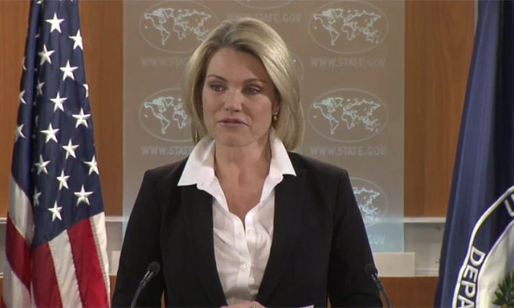 Spokesperson Heather Nauert leads the Department Press Briefing at the Department of State.