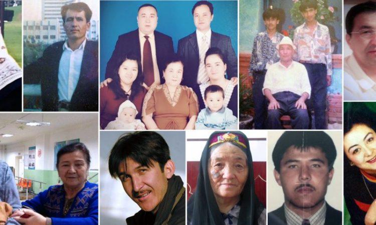 Çin'in Sincan Uygur Özerk Bölgesinde yeniden eğitim kamplarına gönderdiği, gözaltına aldığı ve hapse attığı Özgür Asya Radyosu (RFA) personelinin yakınları (courtesy photos)